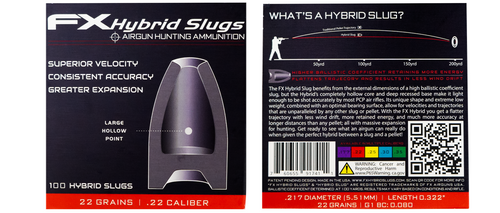 FX Hybrid Slugs | .22 Caliber (22gr) | 100ct *(PRE-ORDER)*