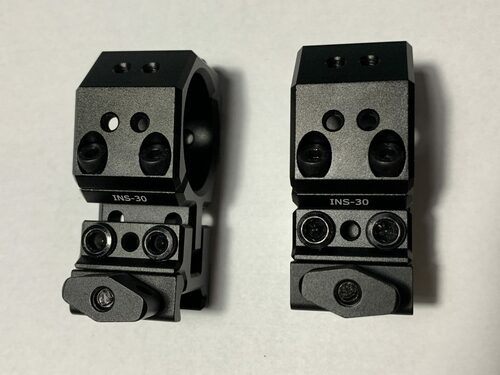 Eaglevision INS Adjustable Scope Rings (2-Piece)