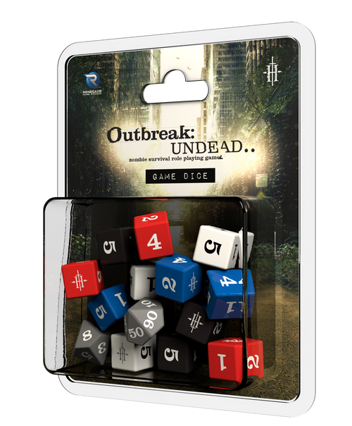 Outbreak Undead 2nd ed Game Dice 3d