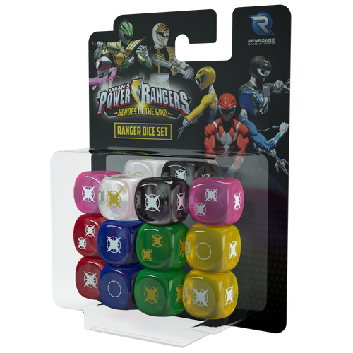 Power Rangers: Heroes of the Grid Ranger Dice Set 3d box