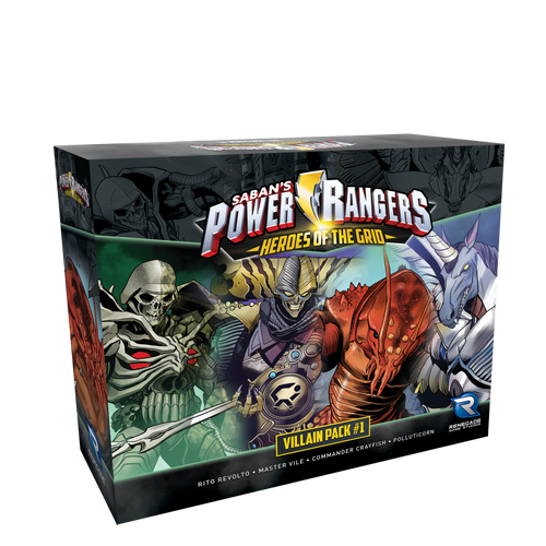 Power Rangers: Heroes of the Grid Villain Pack #1 3d box