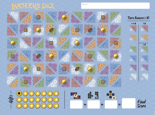 Lanterns Dice Refill Pack (2 Pads Of 100 Sheets)