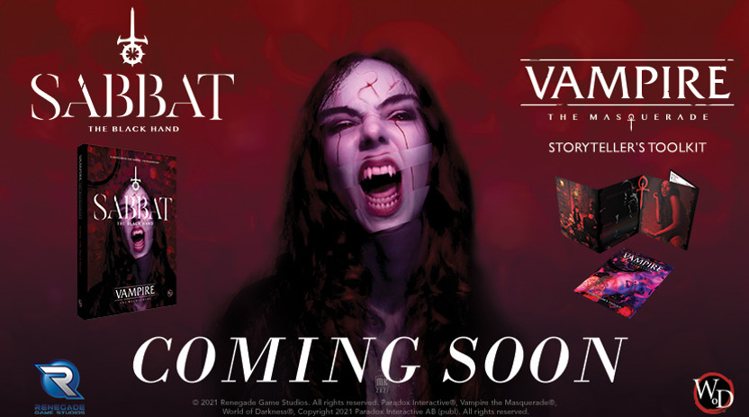 Announcing Two New Vampire: The Masquerade products! Sabbat: The Black Hand and the new Storyteller Screen & Toolkit!