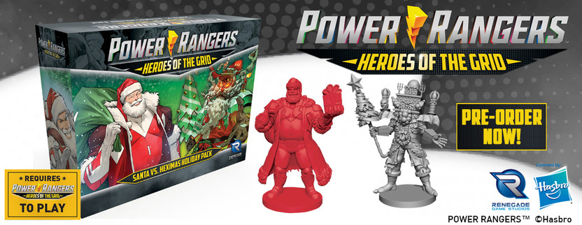 Announcing The Santa vs. Heximas Holiday Pack for Power Rangers: Heroes of the Grid!