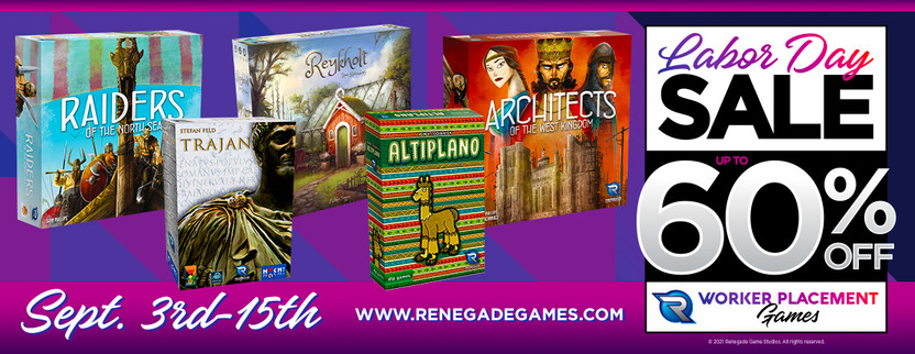 Shop Our Labor Day Sale on our Worker Placement Games!