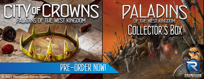 Announcing City of Crowns, an expansion for Paladins of the West Kingdom! Plus the Paladins Collector's Box