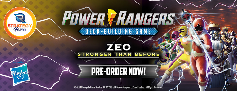 Announcing Power Rangers Deck-Building Game Zeo: Stronger Than Before!