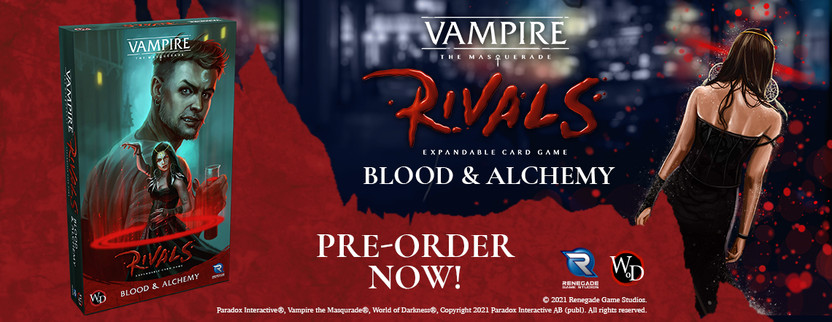 Pre-order Vampire: The Masquerade Rivals Blood & Alchemy today!