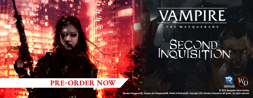 Announcing the Second Inquisition Sourcebook and Book of Nod for Vampire: The Masquerade 5th Edition!