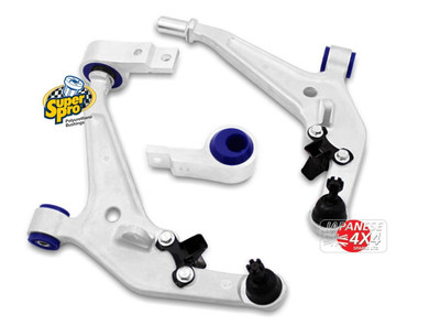 Front Lower Control Arms (With Off Set Bushes) Complete Alloy Assembly for Nissan X-Trail T30 2001-2007