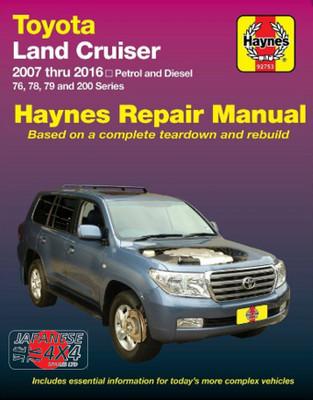 Haynes Manual for Toyota Landcruiser 2007 - 2016  200 Series  Petrol & Diesel Engines
