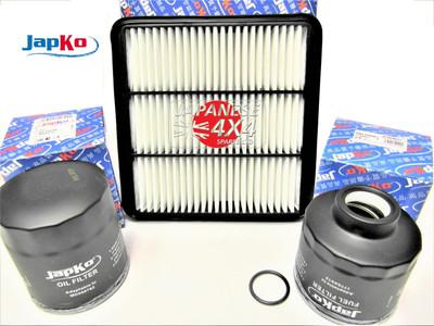 Engine Filter Kit for Mitsubishi L200 KB4 2.5TD 2006-09/2008