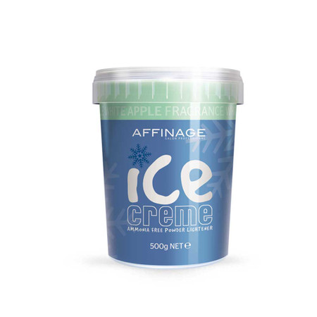 AFFINAGE ICE CREME AMMONIA FREE POWDER LIGHTENER APPLE FRAGRANCE 500 G
