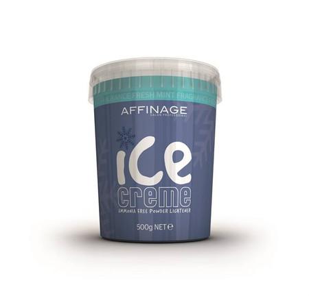 AFFINAGE ICE CREME AMMONIA FREE POWDER LIGHTENER FRESH MINT 500 G