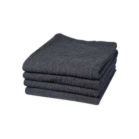 DANNYCO COTTON TOWELS BUDGET BLACK 16X28 PACK OF 12