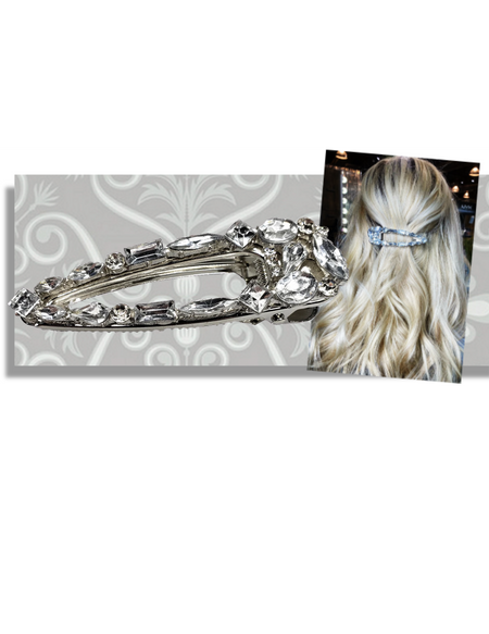 """PINK PEWTER """"DAZZLE"""" HAIR CLIP"""