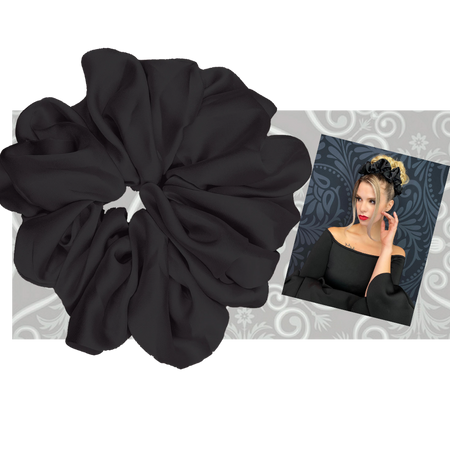 """PINK PEWTER Luxe """"Oversized"""" Plush Scrunchie (Midnight)"""