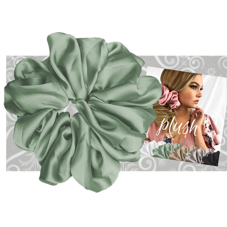 """PINK PEWTER Luxe """"Oversized"""" Plush Scrunchie (Spearmint)"""