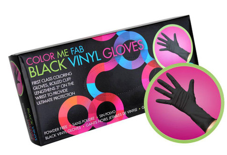 Framar BLACK VINYL GLOVES Medium POWDER FREE 100 pack