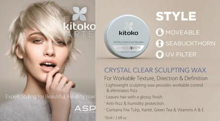 kitoko ARTE CRYSTAL CLEAR SCULPTING WAX 75ml/2.6 fl.oz