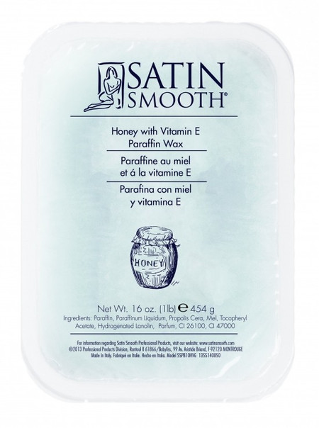 SATIN SMOOTH PARAFFIN WAX HONEY WITH VITAMIN E 1 LB.