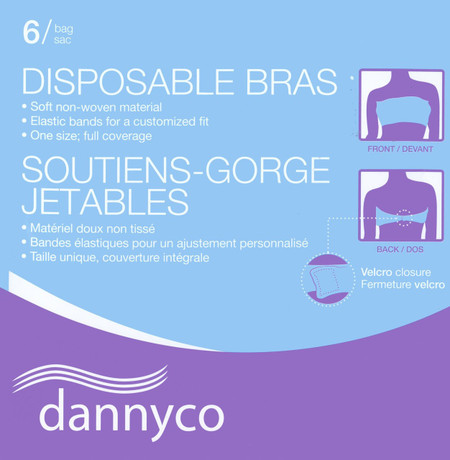 DANNYCO DISPOSABLE BRAS-6 PACK