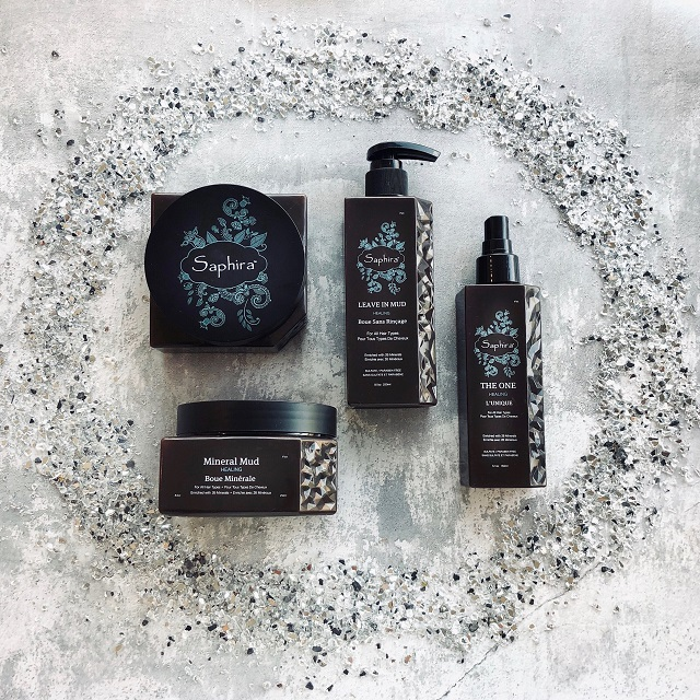 Saphira mud products by Alliance beauty