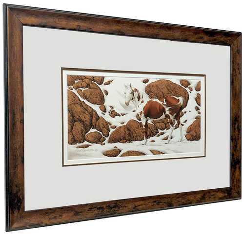 "Bev Doolittle ""Hide and Seek - C"" Pinto Matted & Framed L/E"
