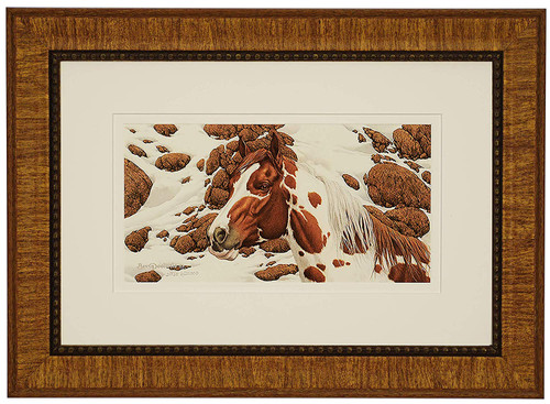"Bev Doolittle ""Hide and Seek - B"" Pinto Matted and Framed L/E"