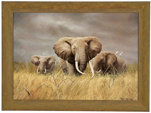 """Charles Frace """"Power of the Serengeti"""" Elephants Canvas Framed Signed & Numbered L/E"""