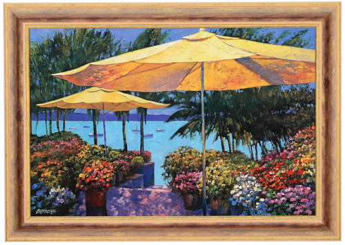 """Howard Behrens """"Flowers by the Sea"""" Canvas Framed L/E Signed & Numbered"""