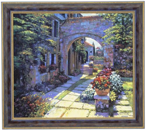 "Howard Behrens ""Villa Morning"" Canvas Framed L/E Signed & Numbered"