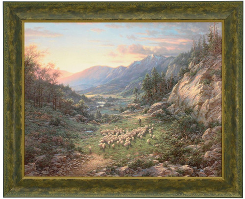 "Larry Dyke ""The Good Shepherd"" Sheep Canvas Framed L/E Signed and Numbered"