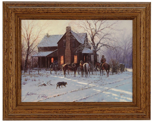 "Martin Grelle ""By Early Light"" Cowboy Canvas Framed L/E Signed & Numbered"