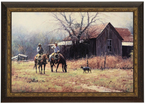 "Martin Grelle ""Brush Country Cowboys"" Canvas Framed L/E Signed & Numbered"
