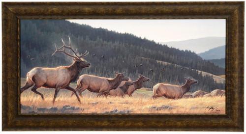 """Nancy Glazier """"Flyin High"""" Elk Canvas Framed L/E Signed & Numbered"""