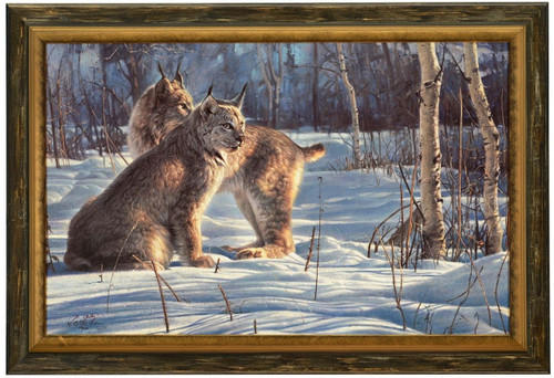 "Nancy Glazier ""Lynx Light"" Canvas Framed L/E Signed & Numbered"