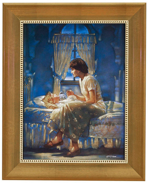 "Ron DiCianni ""Angels Unseen"" Mother and Daughter Canvas Framed"