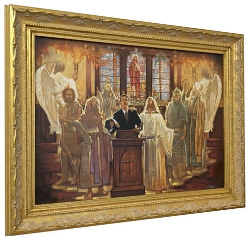 "Ron DiCianni ""The Legacy"" Church Preacher Canvas Edition Framed"