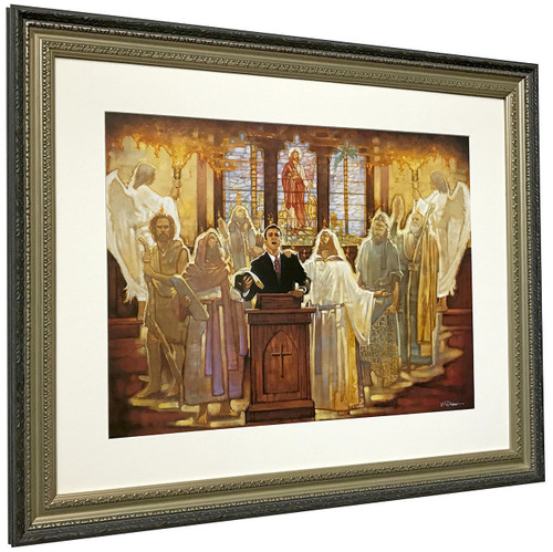 """Ron DiCianni """"The Legacy"""" Church Pastor Matted and Framed Fine Art Print"""
