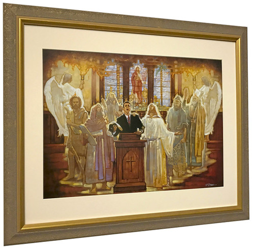 """Ron DiCianni """"The Legacy"""" Church Preacher Matted and Framed Art Print"""