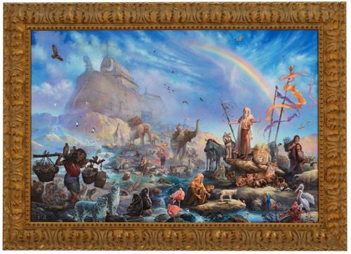 "Tom duBois ""The Celebration"" Noah's Ark Canvas Framed L/E Signed & Numbered"
