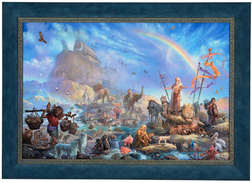 "Tom duBois ""The Celebration"" Noah's Ark Canvas Framed Signed & Numbered L/E"