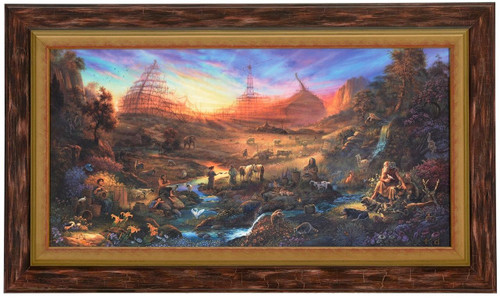 """Tom duBois """"The Commission"""" Noah's Ark Canvas Framed Signed and Numbered L/E"""