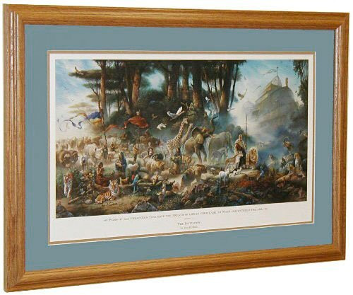 "Tom duBois ""The Invitation"" with Scripture Noah's Ark Framed Art Print Signed"