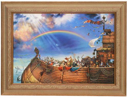"""Tom duBois """"The Promise"""" Noah's Ark Canvas Framed Signed"""