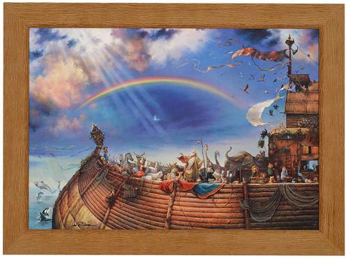 """Tom duBois """"The Promise"""" Noah's Ark Canvas Framed Hand Signed"""