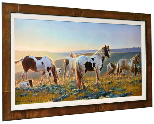 """Nancy Glazier """"Welcome the Dawn"""" Horses Canvas Framed Signed & Numbered L/E"""