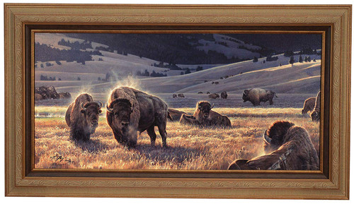 """Nancy Glazier """"The Hidden Valley"""" Buffalo Canvas Framed Signed & Numbered L/E"""