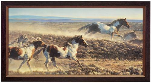 """Nancy Glazier """"Unbridled Spirit"""" Horses Canvas Framed Signed & Numbered L/E"""